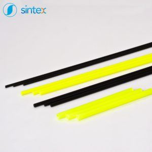 Czarne iżółte rurki plastikowe odproducenta - Sintex