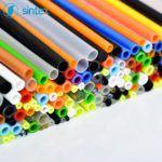 Rurki plastikowe wwielu kolorach