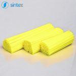 Rurki plastikowe wkolorze żółtym